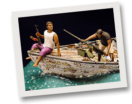 Diorama Pirates of the Somali Sea